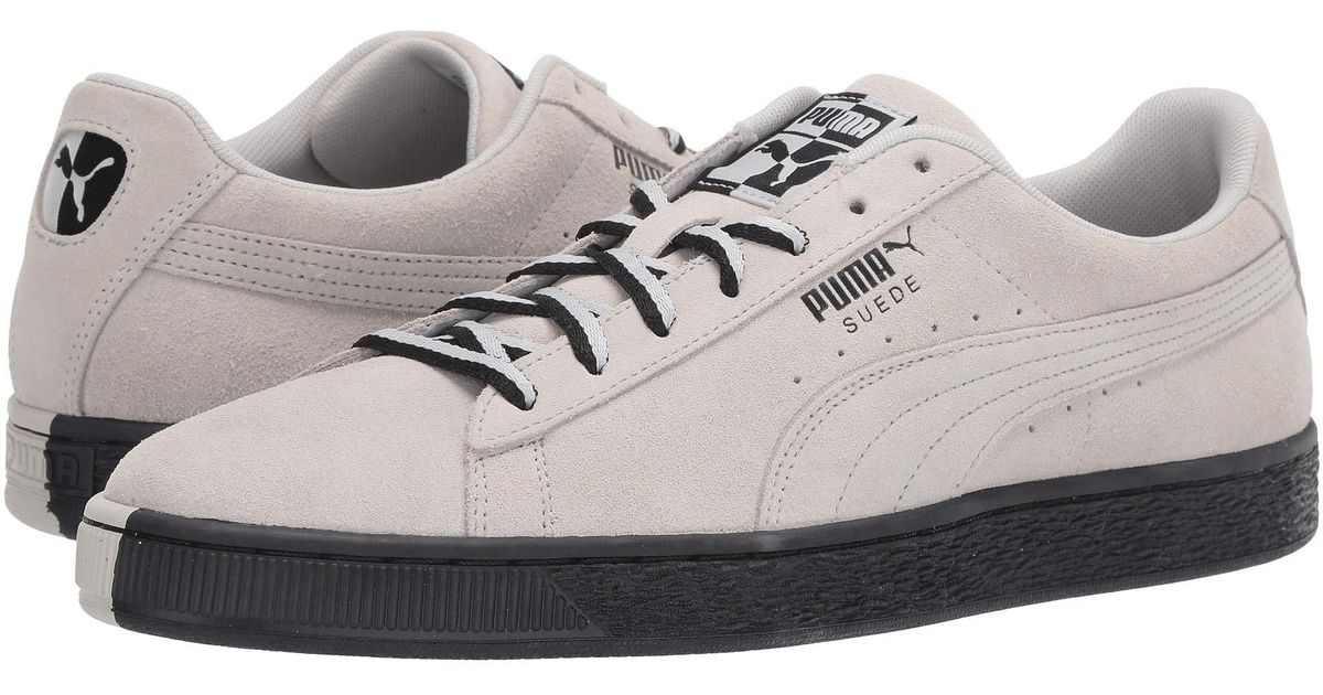 e5c68ad595aa Lyst - PUMA Suede Classic Other-side (glacier Gray  Black) Shoes in Black  for Men