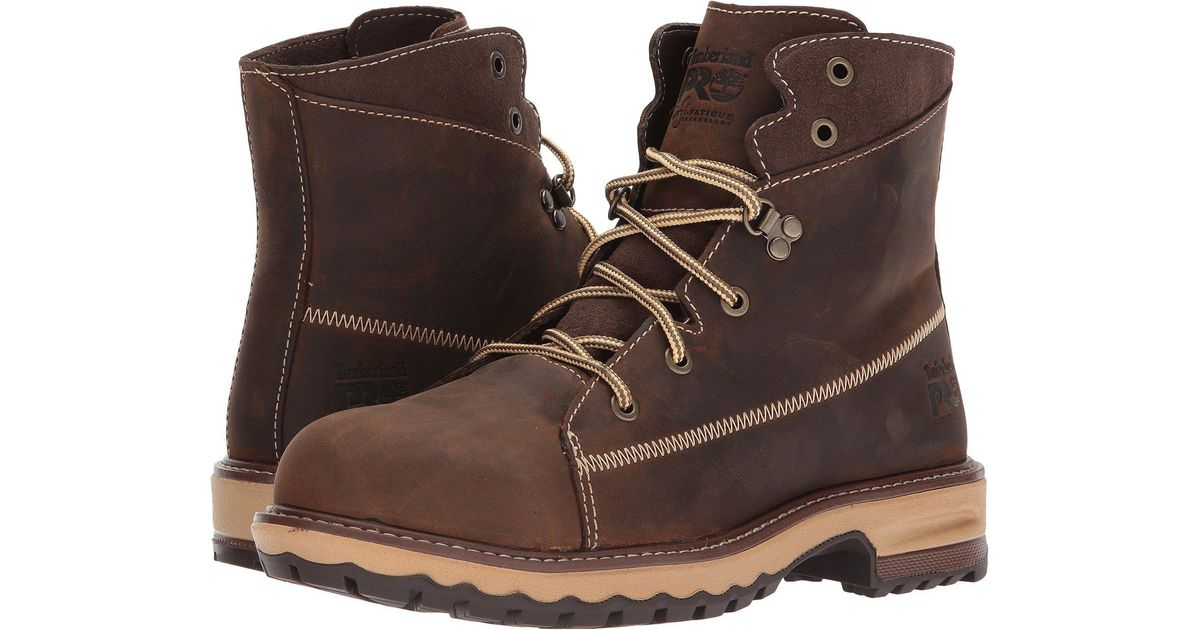 fa2319a8cb4 Timberland - Brown Hightower 6 Alloy Safety Toe (kaffe Full Grain Leather)  Women's Work Lace-up Boots for Men - Lyst