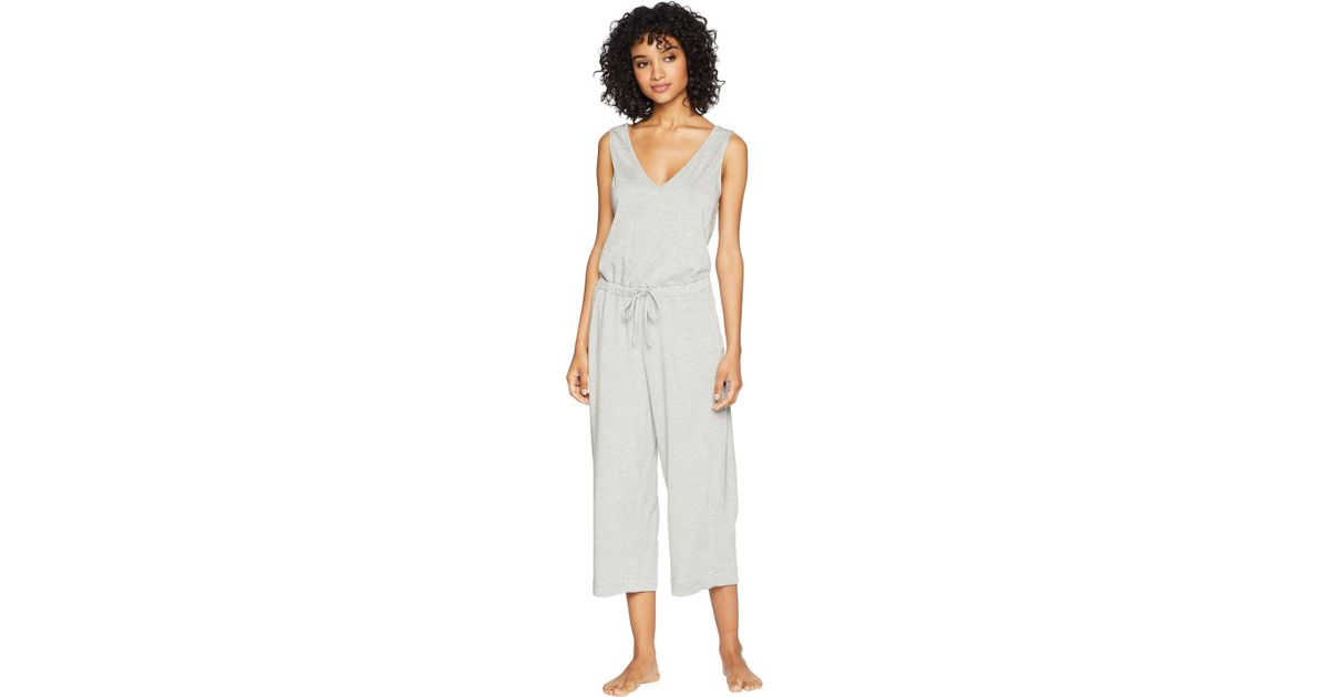 98dce3d45983 Lyst - Beyond Yoga Farrah Cropped Jumpsuit in Gray - Save 40%
