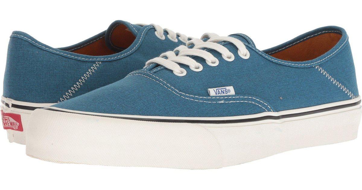 42c986a6d11b81 Lyst - Vans Authentic Sf ((salt Wash) Corsair marshmallow) Men s Lace Up  Casual Shoes in Blue for Men