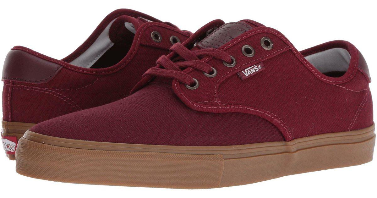 Lyst - Vans Chima Ferguson Pro (dress Blues medium Gum) Men s Skate Shoes  in Red for Men 13789ed83