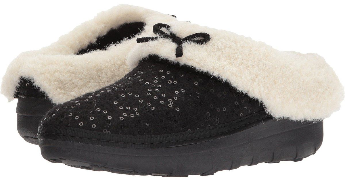 373244c3948 Lyst - Fitflop Loaff Snug Sequin Slipper in Black - Save 49%