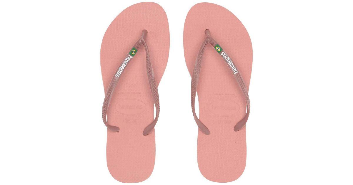 198cf342251699 Lyst - Havaianas Slim Brazil Flip-flops (flamingo) Women s Sandals in Pink