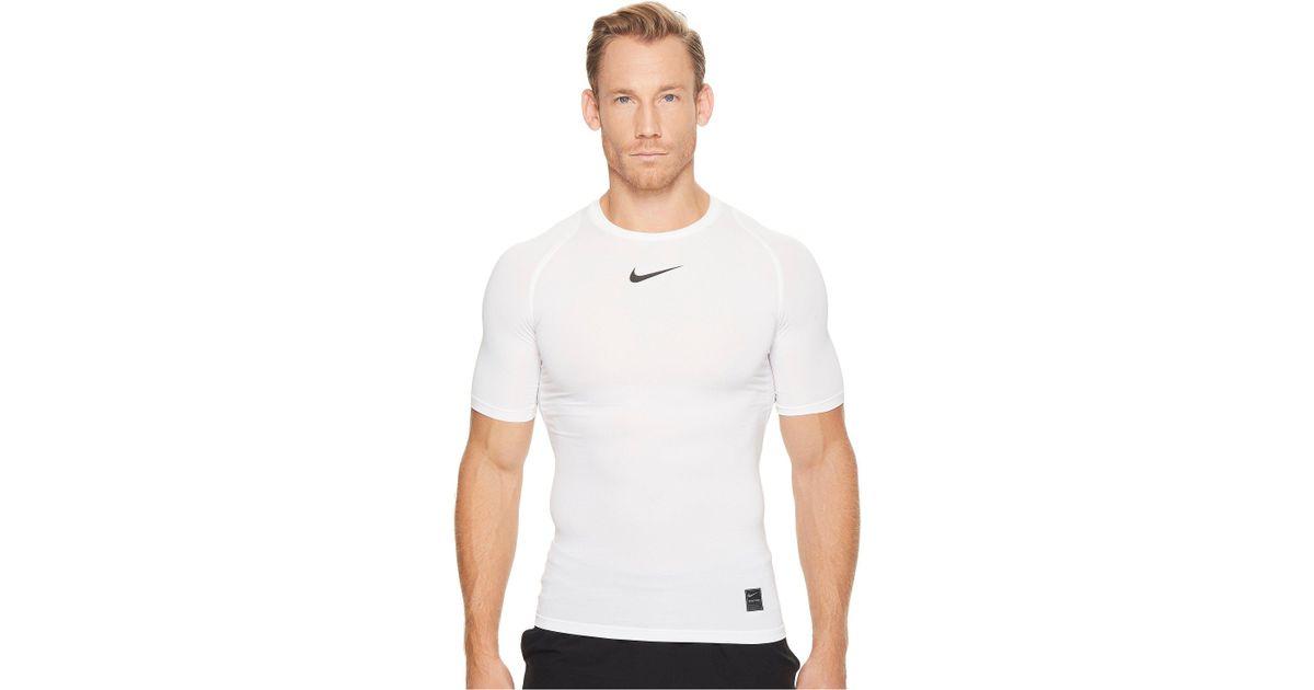 e05eaec3af526 Lyst - Nike Pro Compression Short Sleeve Training Top (black white white)  Men s Short Sleeve Pullover in White for Men