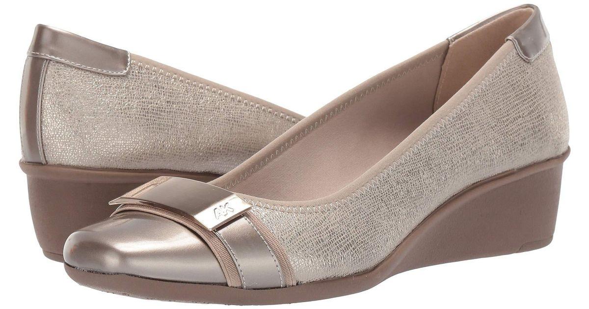 24cad9966c6 Lyst - Anne Klein Sport Waken Wedge Heel (pewter) Women s Shoes