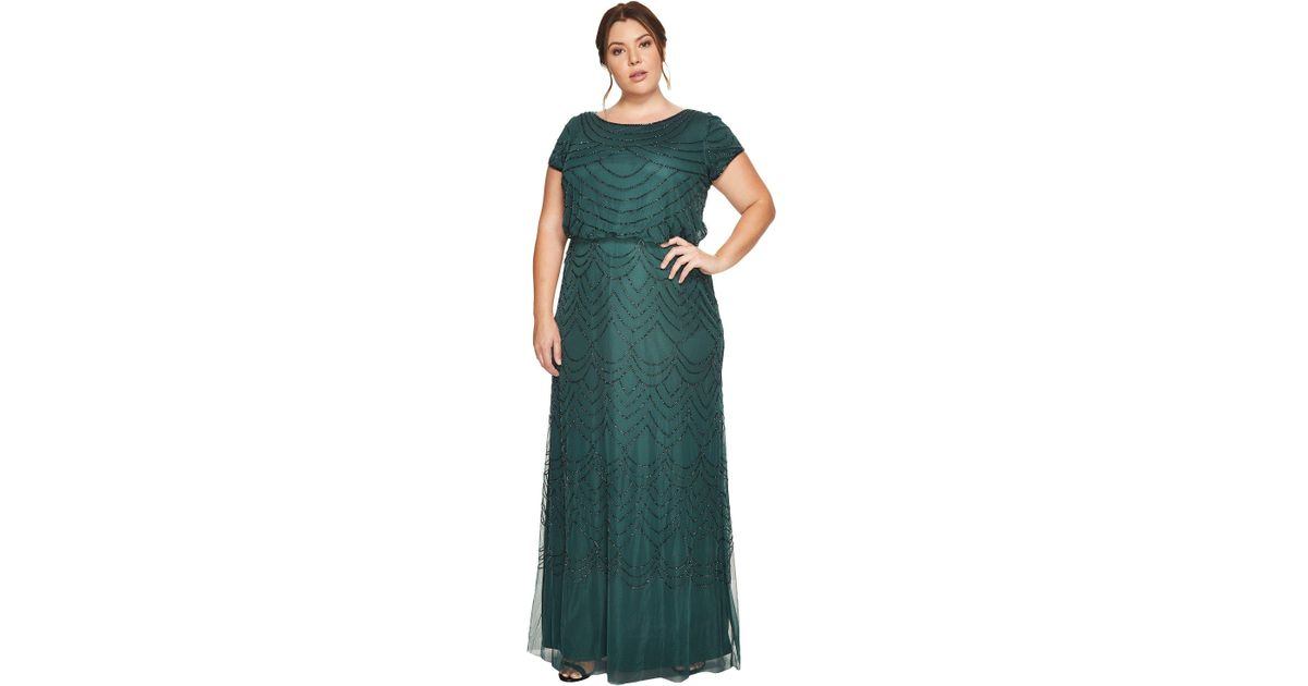 Old Fashioned Adrianna Papell Chiffon Petal Gown Plus Size Component ...