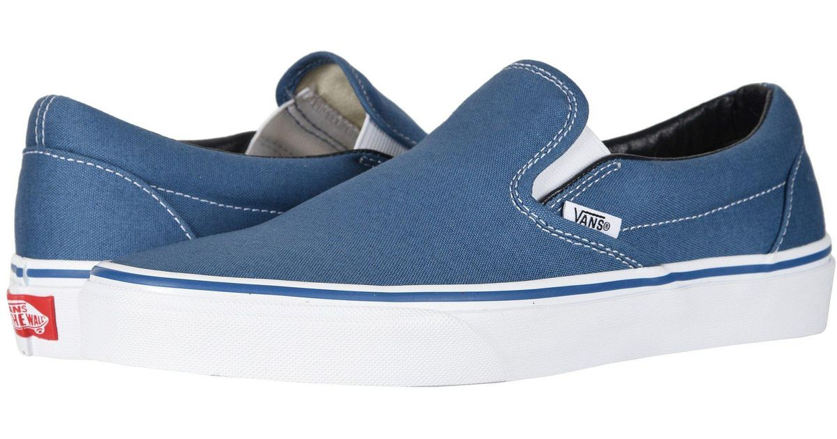 7f56a3a824 Lyst - Vans Classic Slip-ontm Core Classics ((checkerboard) Black black)  Shoes in Blue