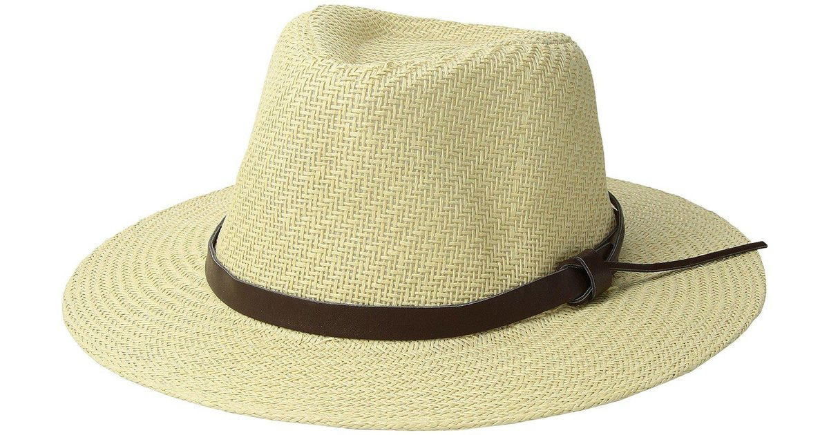 Lyst - San Diego Hat Company Cut Sew Paper Fedora W  Faux Leather Band  (ivory) Caps in White for Men 252ca5830a8b