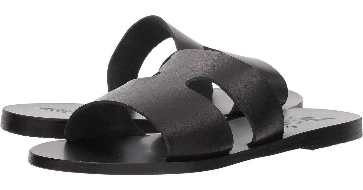 Ancient Greek Sandals Leather Apteros In Black Lyst