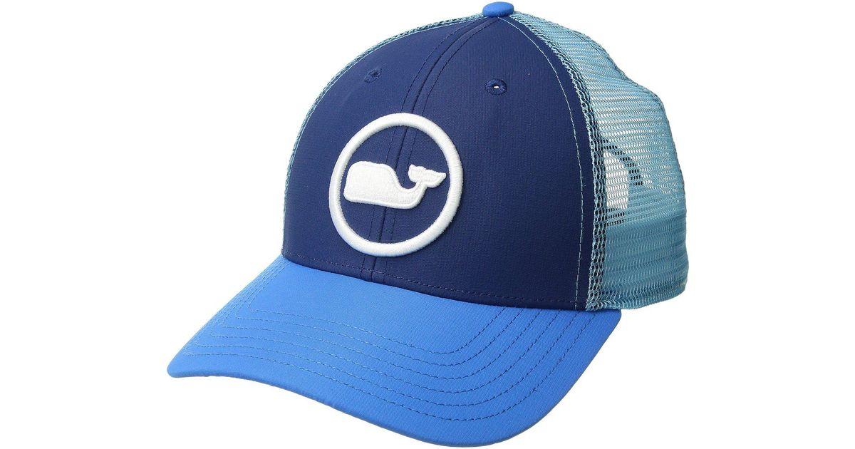 Lyst - Vineyard Vines Whale Dot Performance Trucker Hat (moonshine) Caps in  Blue for Men 2b067f854d6