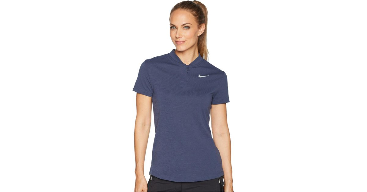 bb1fb77a Nike Aeroreact Polo Short Sleeve in Blue - Save 25% - Lyst