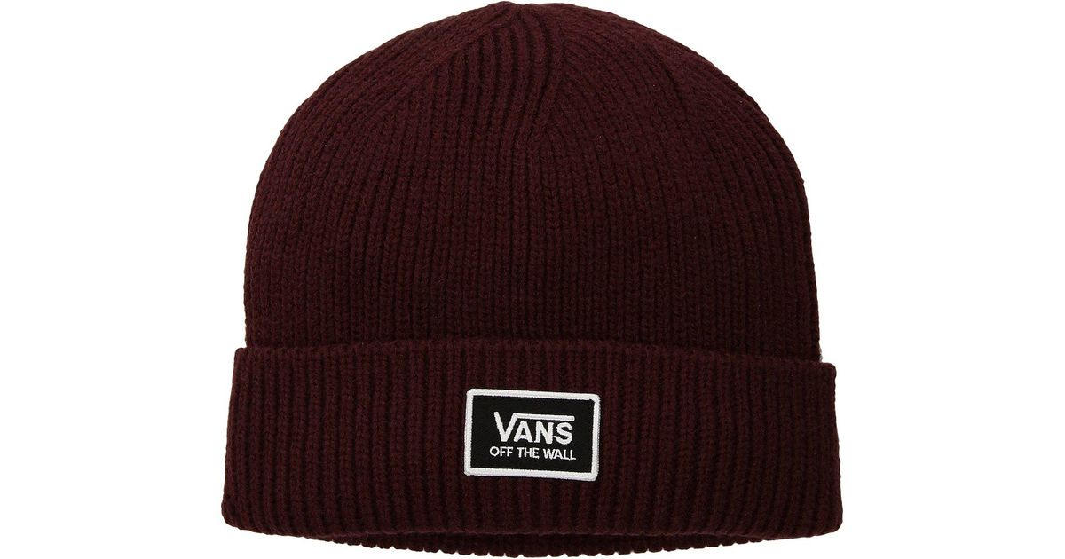 150ef554e76 Lyst - Vans Falcon Beanie in Red for Men