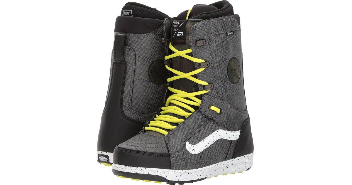 0c566b508f Lyst - Vans Hi-standard ((howl) Black sulphur) Men s Snow Shoes in Black  for Men