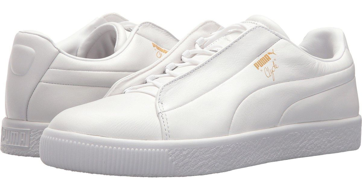size 40 82220 ffdb2 PUMA - White Clyde Fashion Leather for Men - Lyst