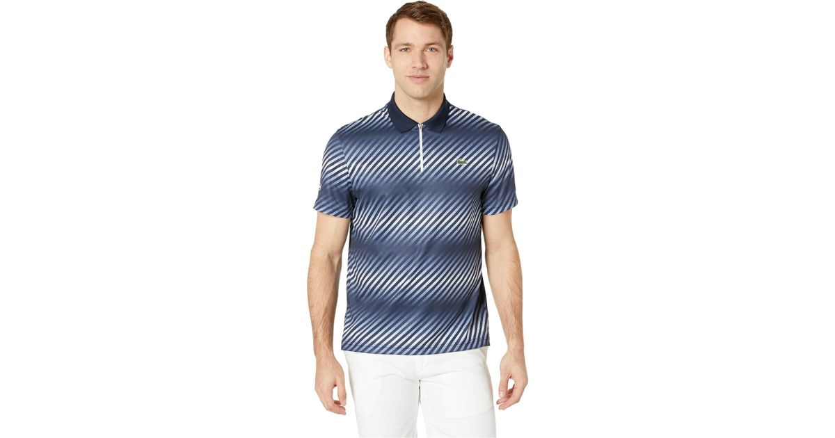 3633626a Lacoste Sport Short Sleeve Ultra Dry Sublimated All Over Print Polo in Blue  for Men - Save 23% - Lyst