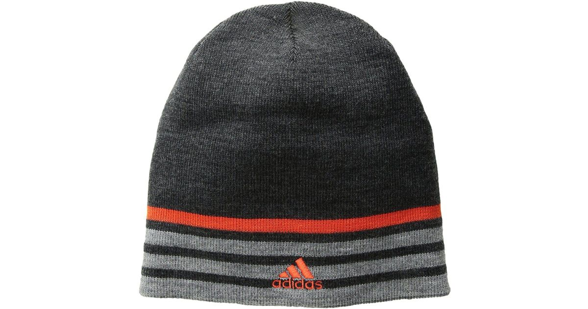 ca0902ad6d2 Lyst - Adidas Eclipse Reversible Beanie in Gray for Men
