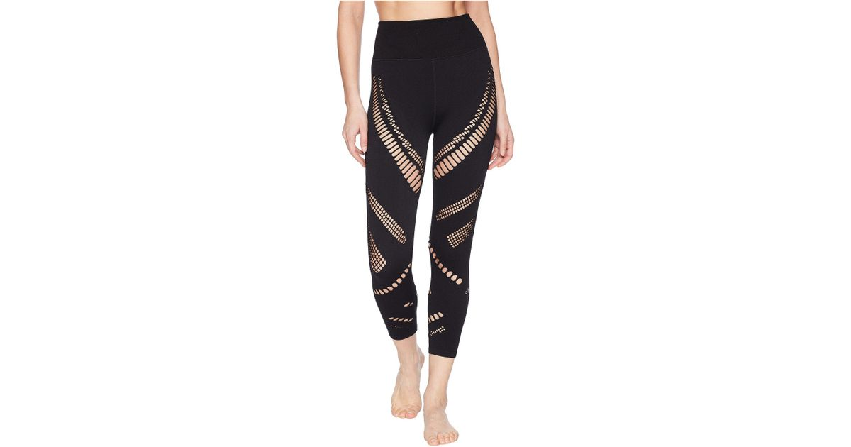 22ce673bfed1b4 Lyst - Alo Yoga High-waist Seamless Radiance Capris (black) Women's Casual  Pants in Black