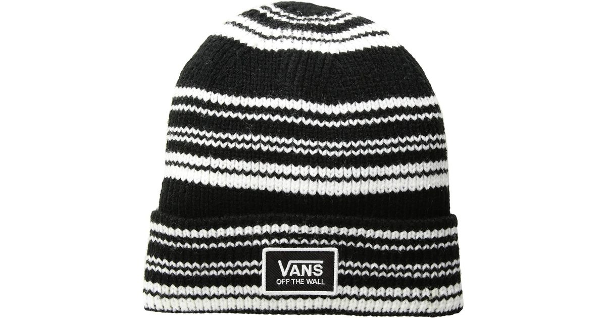 a1151c9315 Lyst - Vans Falcon Beanie (black white Stripe) Beanies in Black