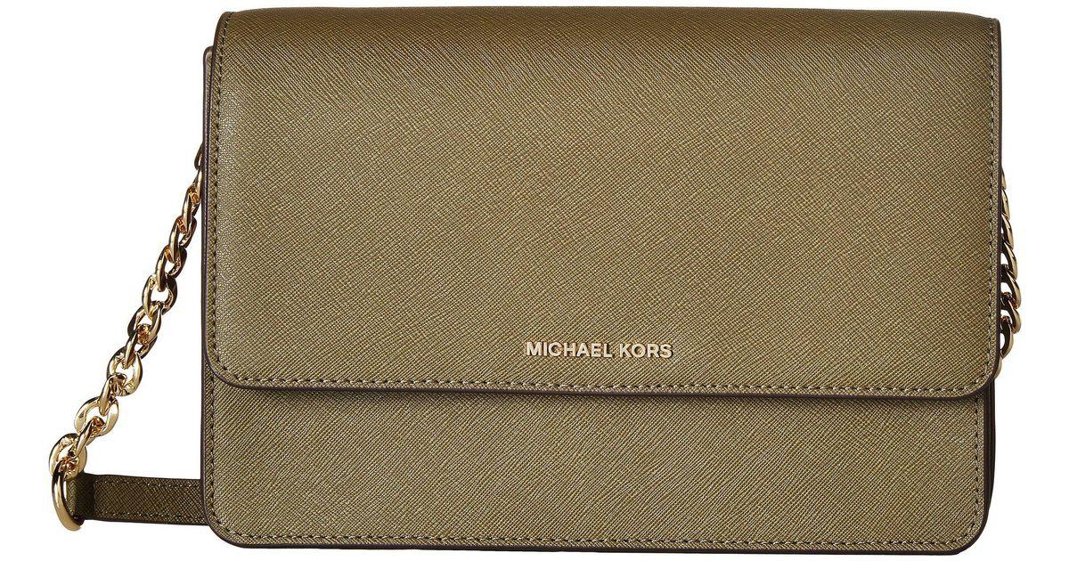 b4de73a3dc76 Lyst - MICHAEL Michael Kors Daniela Large Crossbody in Green