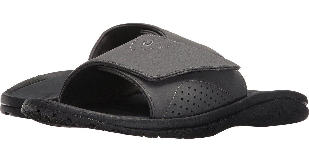 32385b587950 Lyst - Olukai Nalu Slide (black black) Men s Slide Shoes in Gray for Men