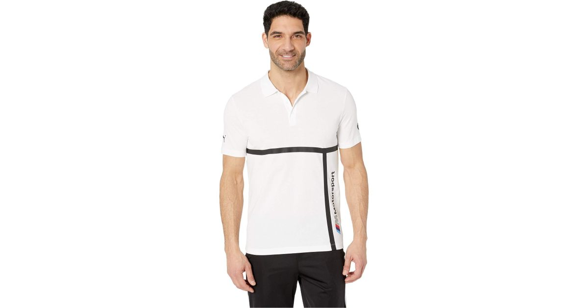 4269ac15c73 Lyst - PUMA Bmw Mms Polo Shirt ( White) Men's T Shirt in White for Men