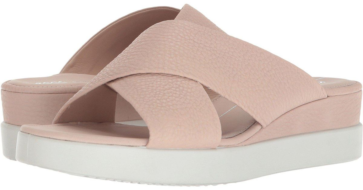 380acaf0ded9 Lyst - Ecco Touch Slide Sandal in Pink