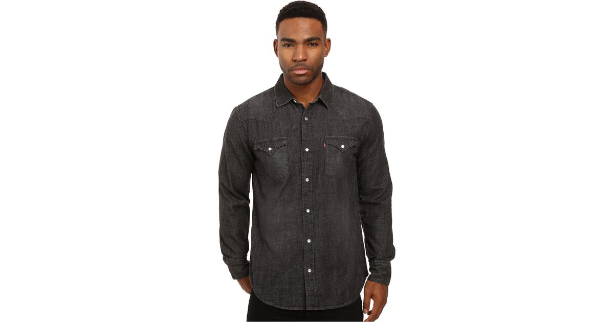 e5107009 Levi's Levi's(r) Standard Barstow Western Shirt (new Age Bleach) Men's Long  Sleeve Button Up in Brown for Men - Lyst