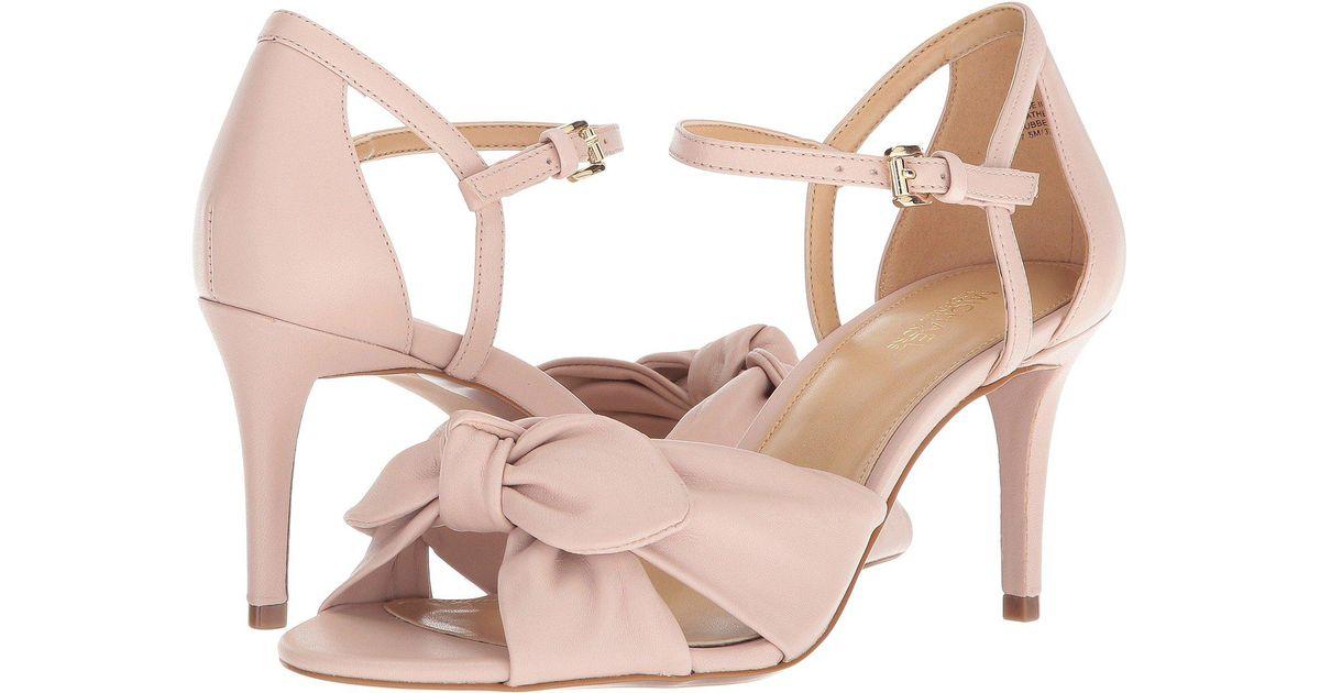7bb364e6a97 Lyst - MICHAEL Michael Kors Pippa Open Toe (black Nappa) Women s Dress  Sandals