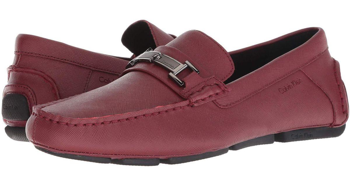 9adab6467b2 Lyst - Calvin Klein Magnus Slip-on Loafer in Red for Men - Save 10%