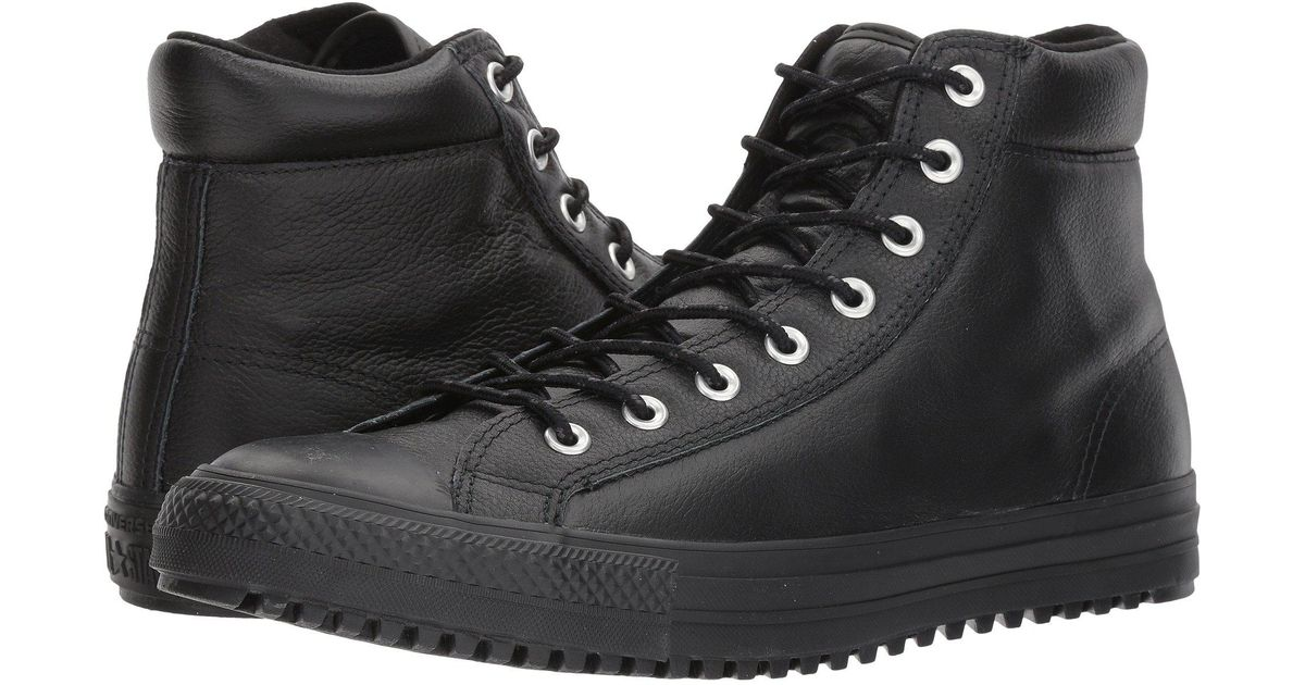 43706e41a0124d Lyst - Converse Chuck Taylor® All Star® Boot Pc Tumbled Leather Hi in Black  for Men