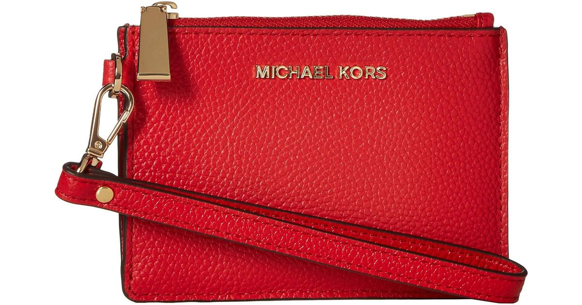 48ff6280bbd898 MICHAEL Michael Kors Small Coin Purse (bright Red) Coin Purse in Red - Lyst
