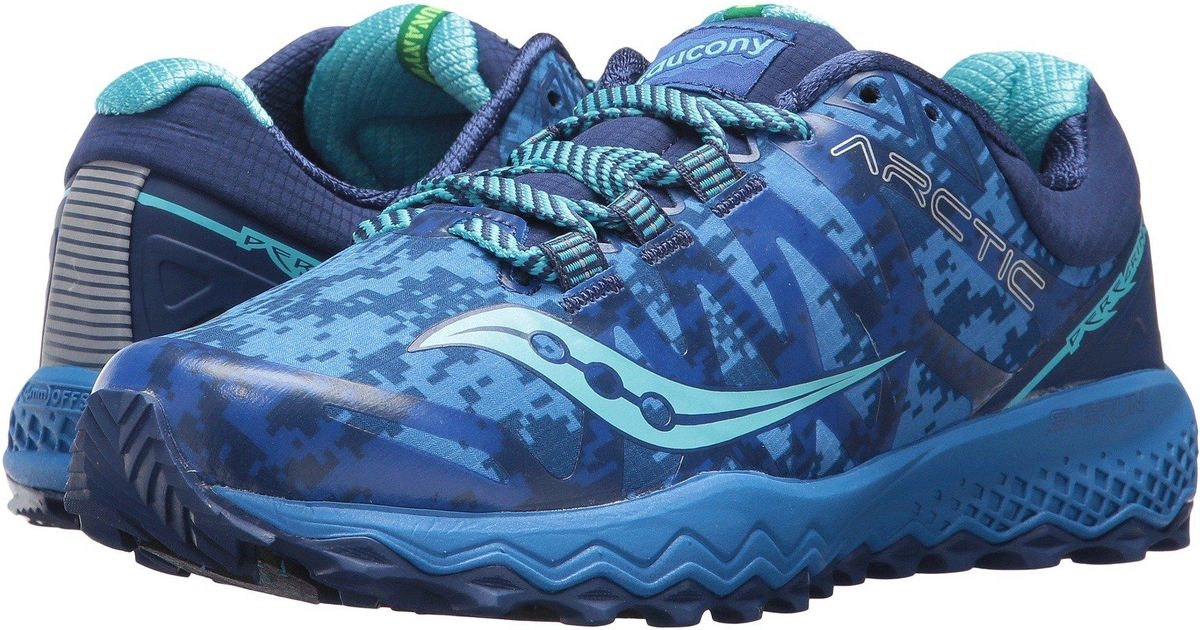 bc1dee973018 Lyst - Saucony Peregrine 7 Ice+ Trail Running Shoe in Blue