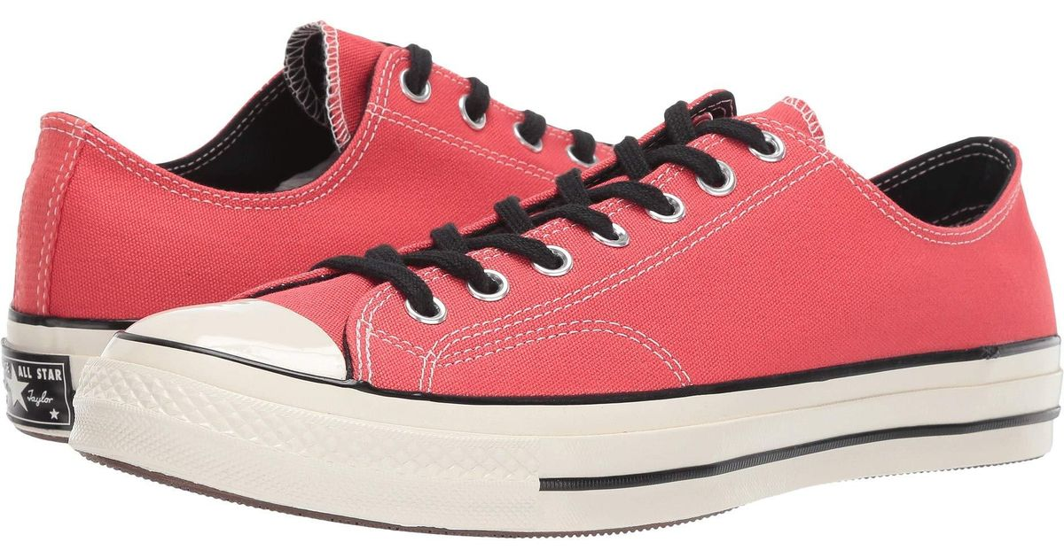 b275919dc9731a Lyst - Converse Chuck Taylor(r) All Star(r)  70 Vintage Canvas Ox (barkroot  Brown black egret) Lace Up Casual Shoes in Red