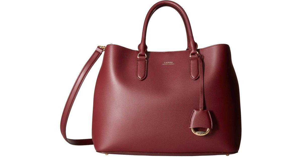 Lyst - Lauren by Ralph Lauren Dryden Marcy Tote (merlot rose Smoke) Tote  Handbags ab487b0678