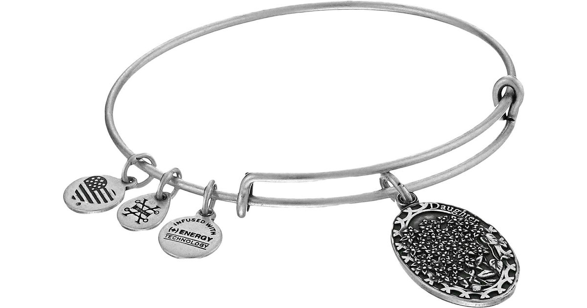 Lyst Alex And Ani Because I Love You Daughter Ii Bracelet In Metallic Save 31