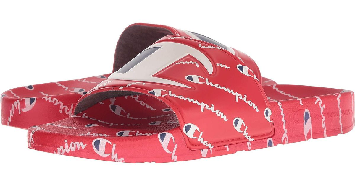 d1990bc8e11fa Lyst - Champion Ipo Repeat (red red Repeat) Men s Slide Shoes in Red for Men