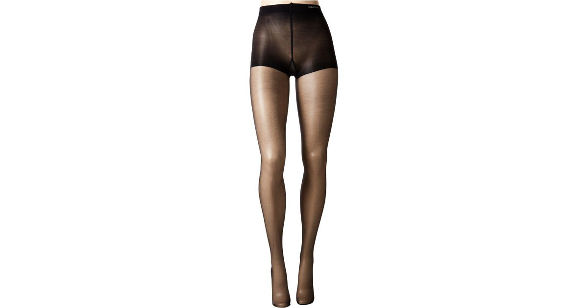 8a80b4ae48798 Lyst - Calvin Klein Infinite Sheer W/ Control Top (almost Black) Control Top  Hose in Black - Save 13%