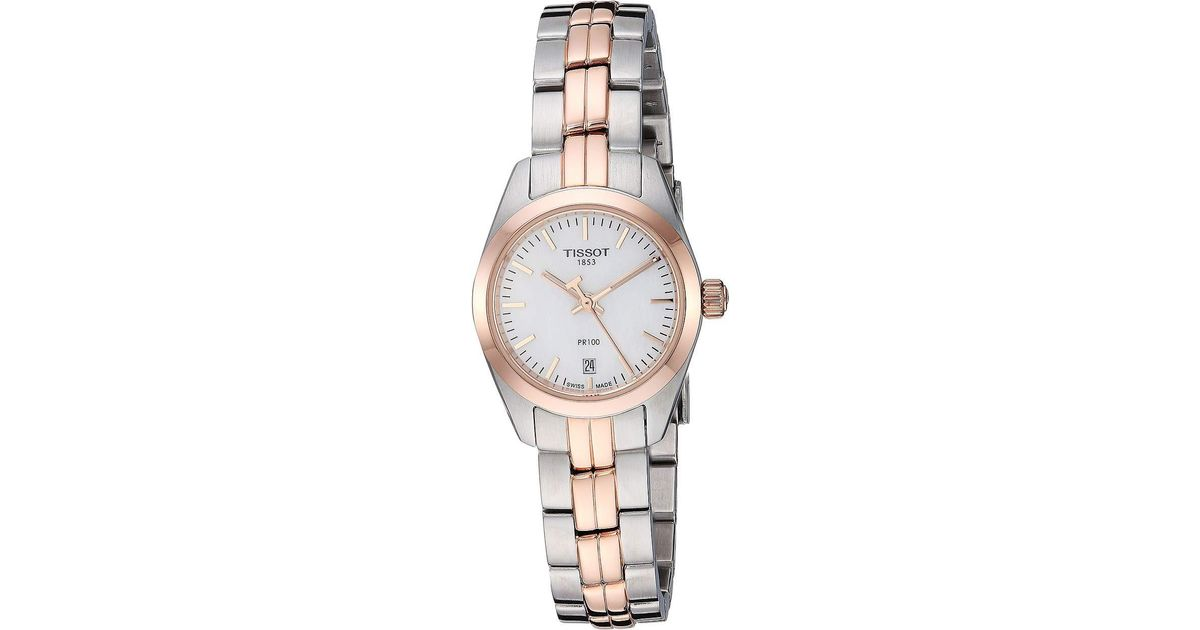 Lyst - Tissot Pr 100 Lady Small - T1010102211101 (rose Gold silver) Watches  in Metallic 2a4851d50321