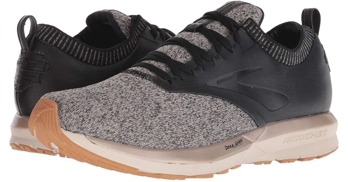 5bae1ee457e Lyst - Brooks Ricochet (black ebony red) Men s Running Shoes in Black for  Men