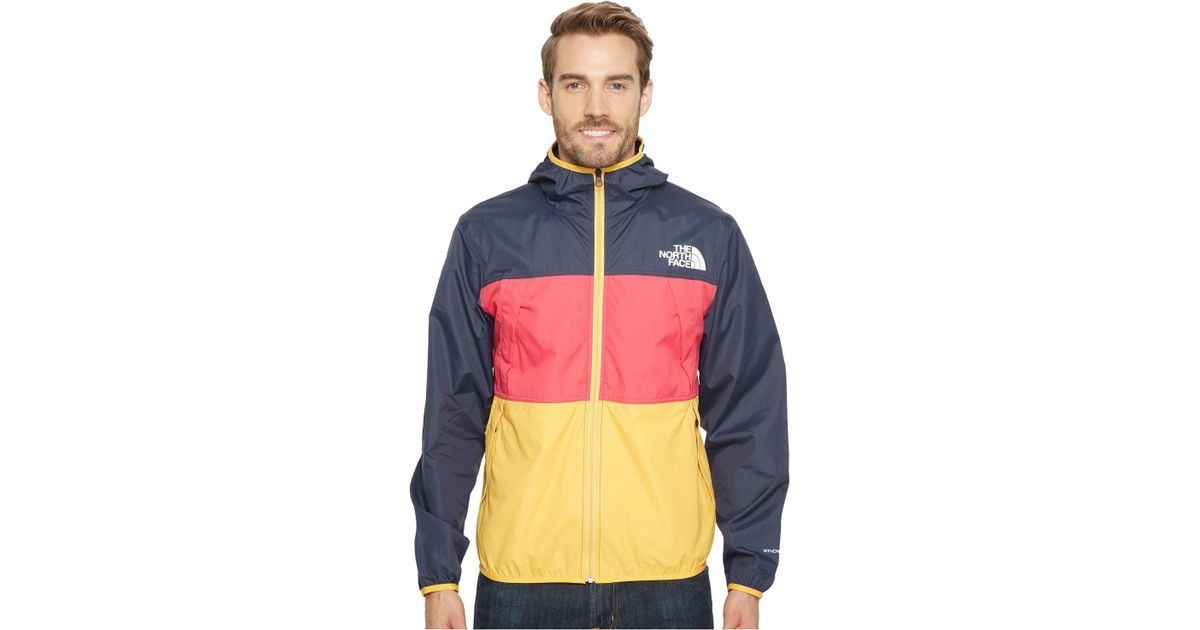 f93f00d7e831 Lyst - The North Face Telegraph Wind Jacket (urban Navy raspberry Red tnf  Yellow) Men s Coat in Blue for Men