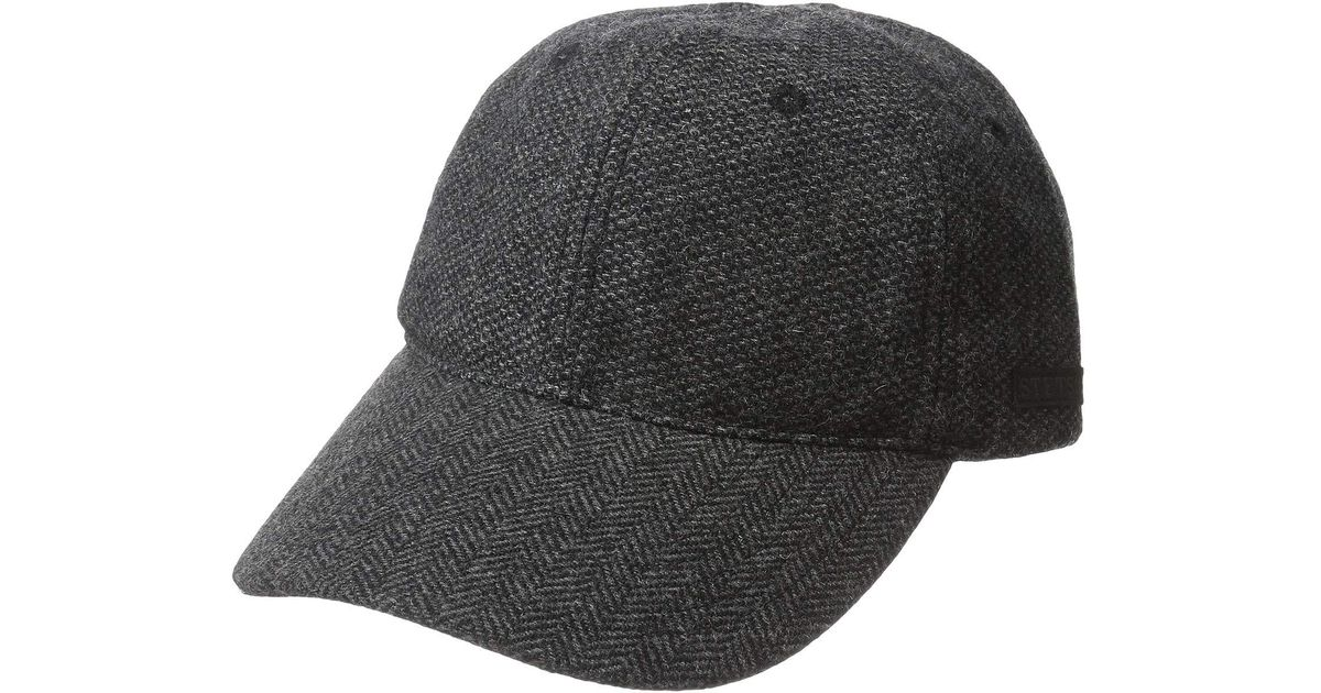 c5697f2324a6d Lyst - Stetson Wool Blend Nail Head Cap (grey) Caps in Gray for Men