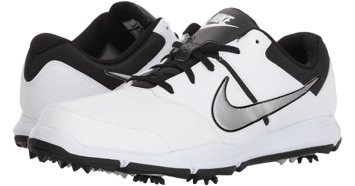 1aad2ce3731b22 Lyst - Nike Durasport 4 (white metallic Silver black) Men s Golf Shoes in  Metallic for Men