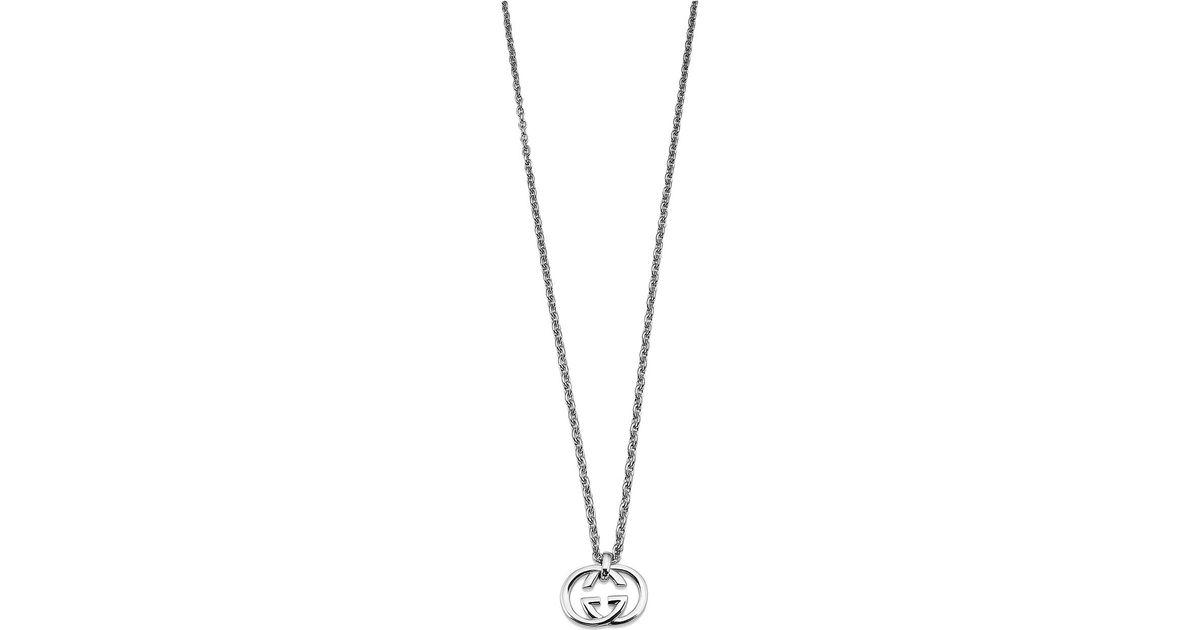 7af718ed6 Lyst - Gucci 50cm Silver Britt Necklace in Metallic
