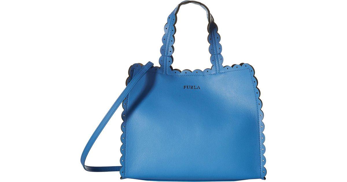 Furla Merletto light blue small tote AkJ8MFM