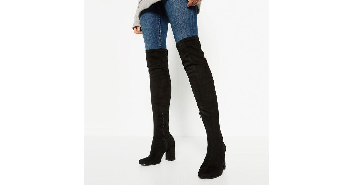 Goat leather work gloves - Zara Stretch Leg High Heel Boots In Multicolour Lyst