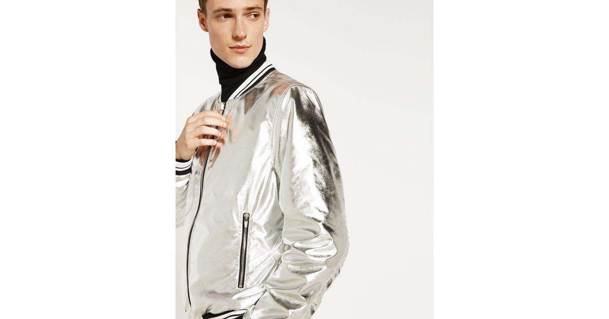 Zara Reversible Bomber Jacket For Men Lyst