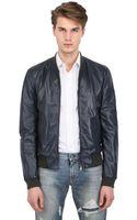 Dolce & Gabbana Nappa Leather Bomber Jacket - Lyst