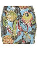 Topshop Pineapple Sequin Mini Skirt - Lyst