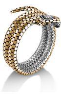 John Hardy Double Coil Cobra Head Bracelet - Lyst