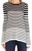 Vince Striped Crew Sweater - Lyst